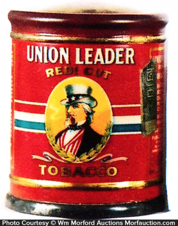 Union Leader Tobacco Can