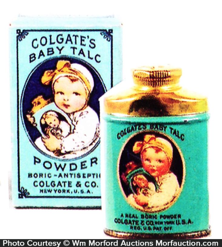Colgate's Baby Talc Sample Tin