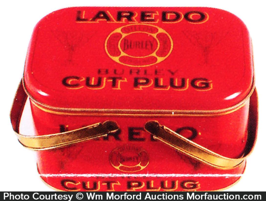 Laredo Burley Cut Plug Tobacco Pail