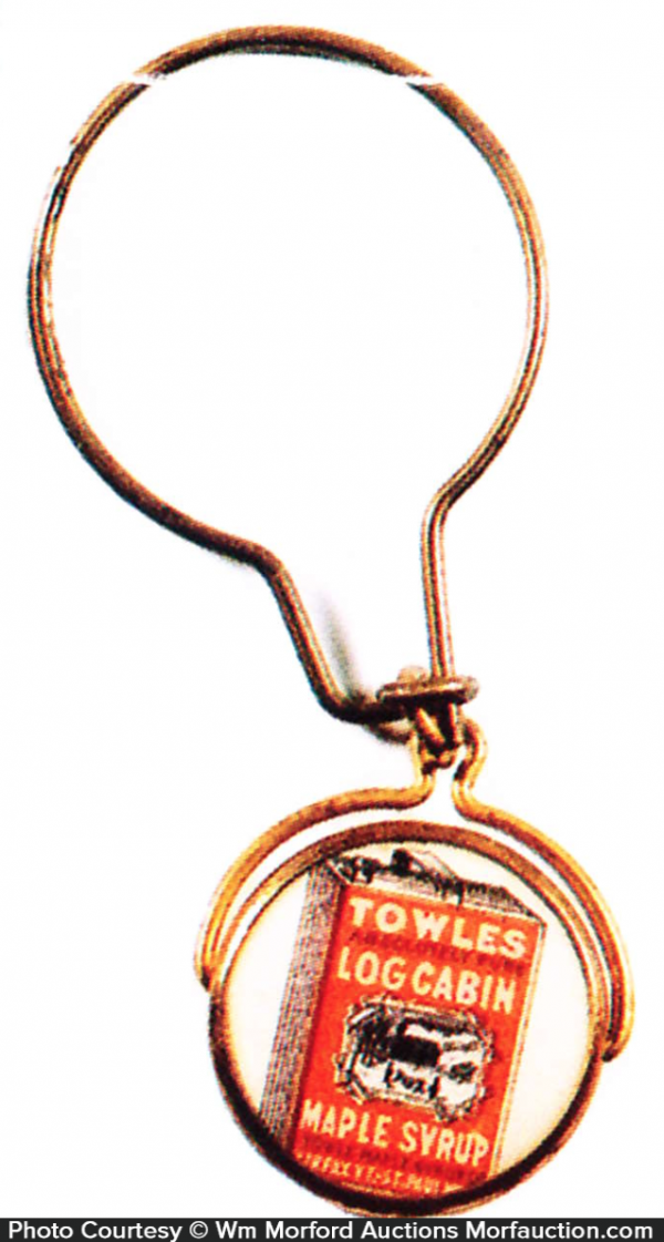 Towle's Log Cabin Syrup Fob