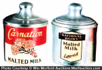 Vintage Malted Milk Containers