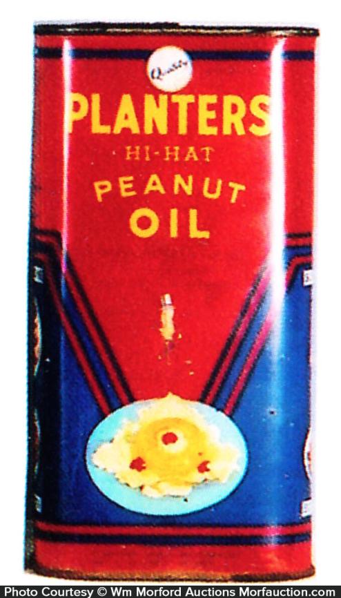 Planters Hi-Hat Oil Tin