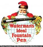 Waterman's Ideal Fountain Pen Santa Sign