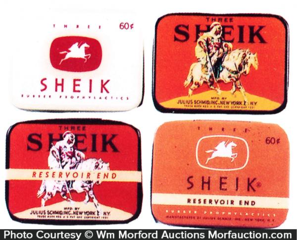Sheik Condom Tins