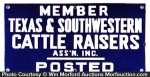Texas Cattle Raisers Sign