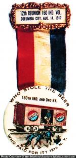 Schlitz Beer Celluloid Badge