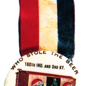 Schlitz Beer Celluloid Badge