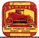 Muncie Typewriter Tin