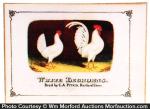 White Leghorn Chickens Sign