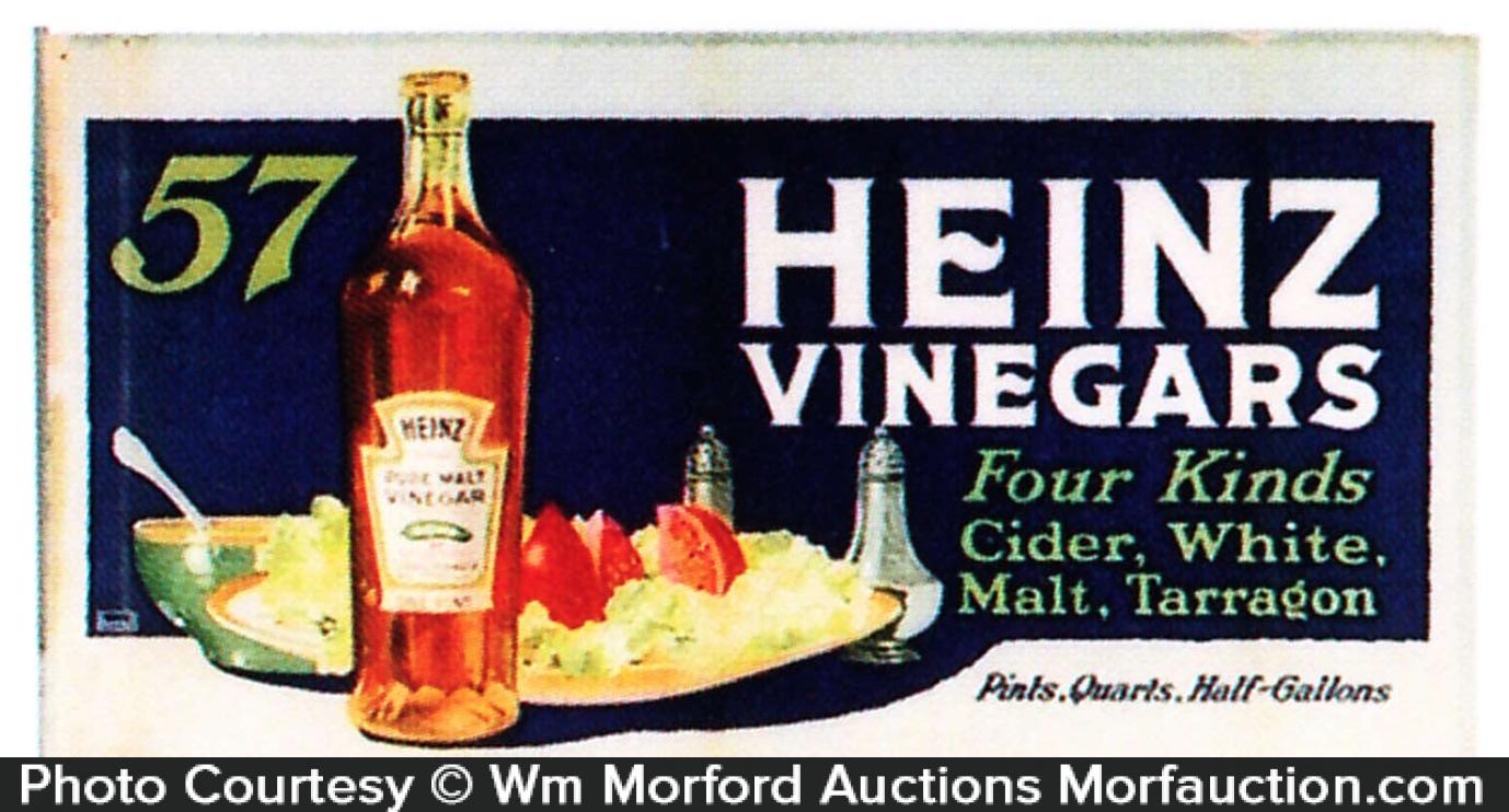 Heinz Vinegar Trolley Sign
