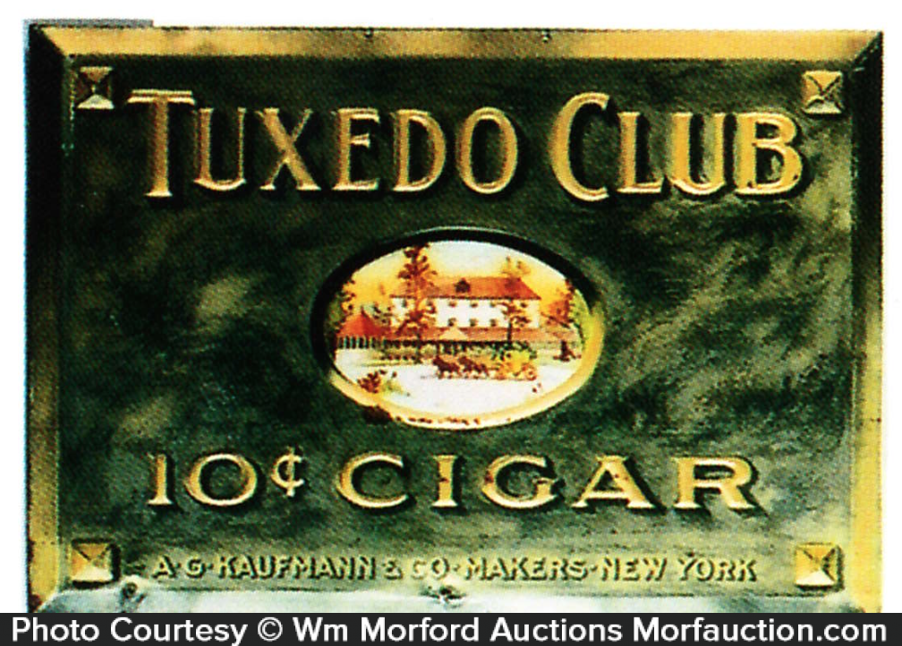 Tuxedo Club Cigar Sign