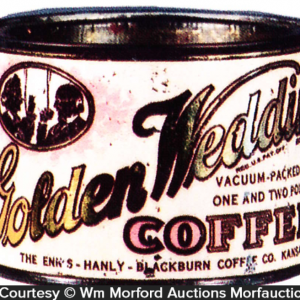 Golden Wedding Coffee Sample Can