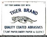 Tiger Abrasives Sandpaper Sign