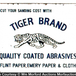 Tiger Abrasives Sandpaper Sign