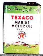 Texaco Marine Motor Oil Can