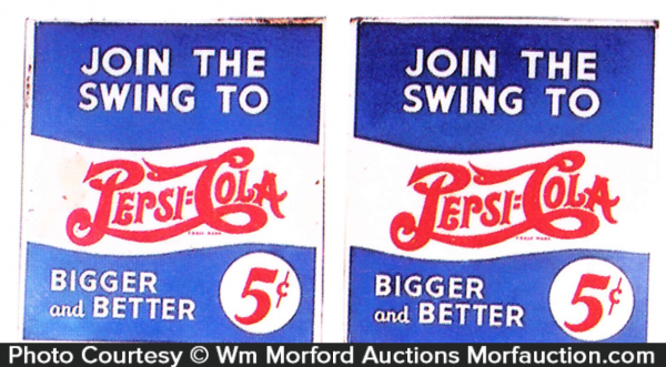 Swing To Pepsi Signs