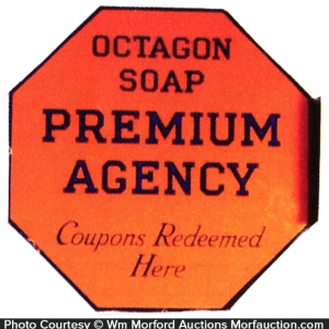 Octagon Soap Porcelain Sign