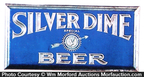 Silver Dime Beer Sign