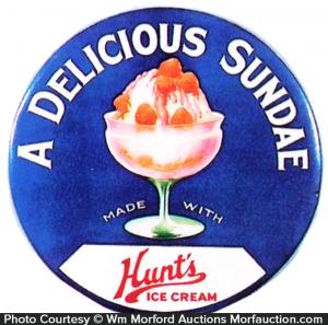 Hunt's Ice Cream Sign
