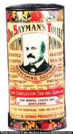 Dr. Sayman's Toilet Powder Tin