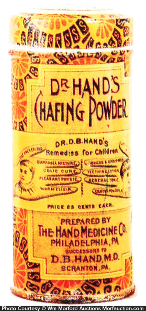 Dr. Hand's Chafing Powder Tin