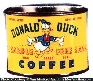 Donald Duck Coffee Tin Sample