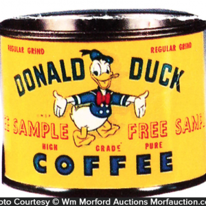 Donald Duck Coffee Tin Sample