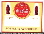 Coca-Cola 50Th Anniversary Badge