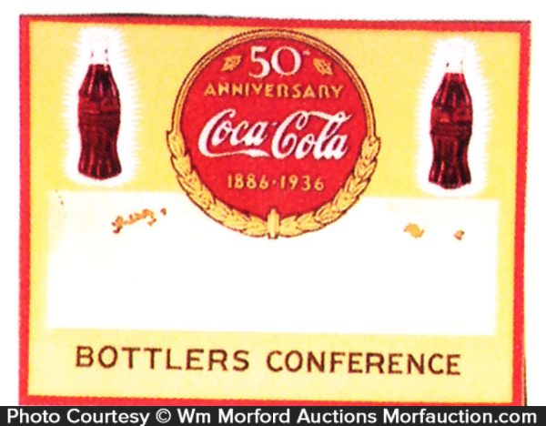 Coca-Cola 50Th Anniversary Badge