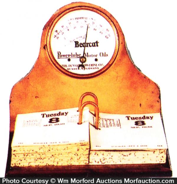 Bearcat Motor Oil Desk Set