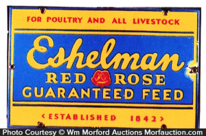 Eshelman Red Rose Feed Sign