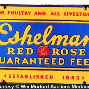 Eshelman Red Rose Feed Sign