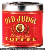 Old Judge Coffee Ashtray