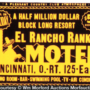 El Rancho Rankin Motel Sign
