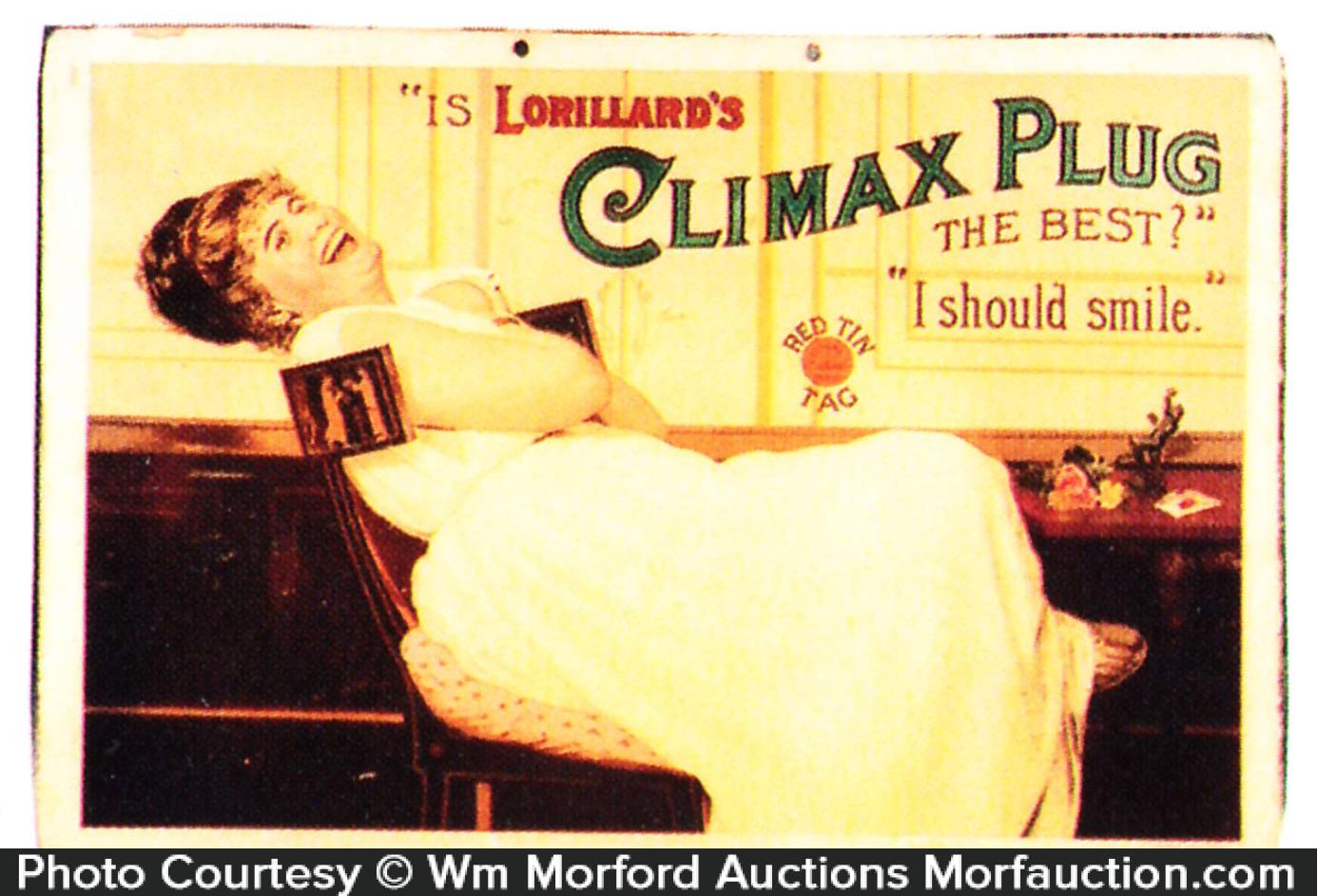 Climax Plug Tobacco Sign
