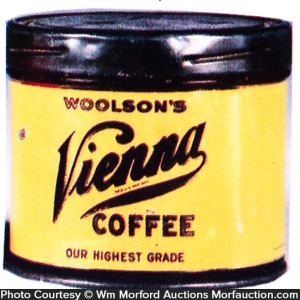 Woolson's Vienna Coffee Sample Can