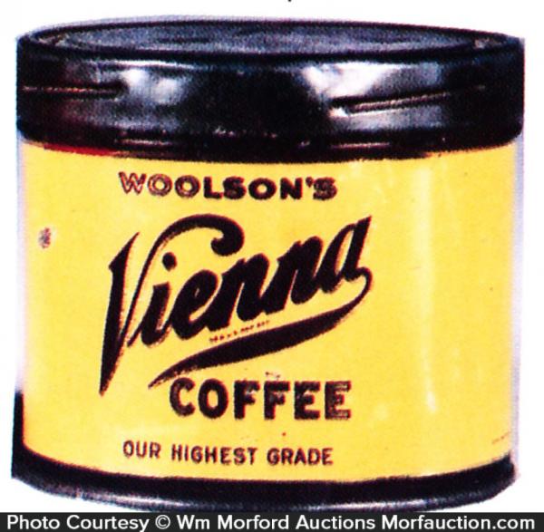 Woolson's Vienna Coffee Sample Can