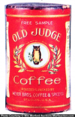 Old Judge Coffee Can Sample
