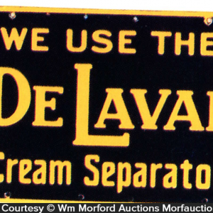 Delaval Cream Separator Sign