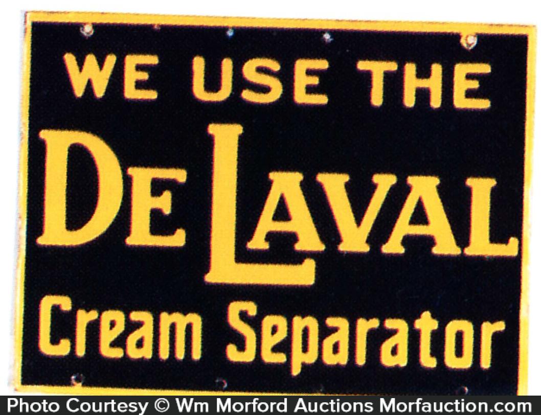 Delaval Cream Separator Sign