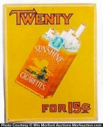 Sunshine Cigarettes Sign