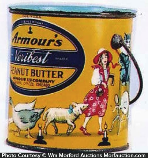 Armour's Veribest Peanut Butter Pail