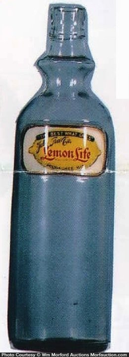 Lemon Life Syrup Bottle