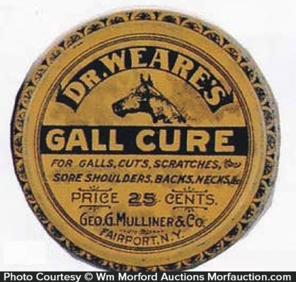 Dr. Weare's Gall Cure Tin