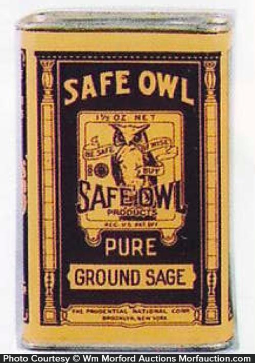 Safe Owl Spice Tin