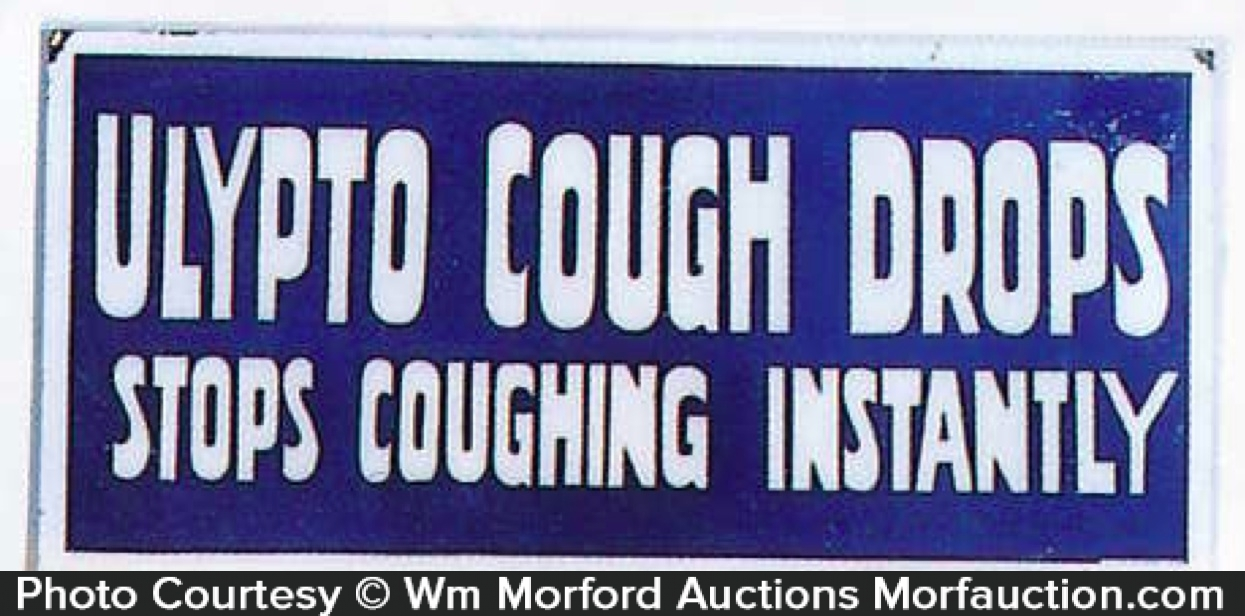Ulypto Cough Drop Sign