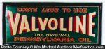 Valvoline Pennsylvania Oil Sign