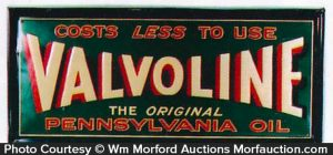 Valvoline Pennsylvania Oil Sign