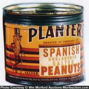 Planters Spanish Peanuts Tin
