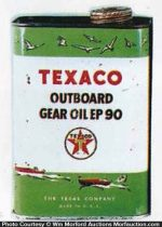 Texaco Outboard Gear Oil Can